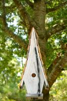 Heartwood High Cotton Bird House, White
