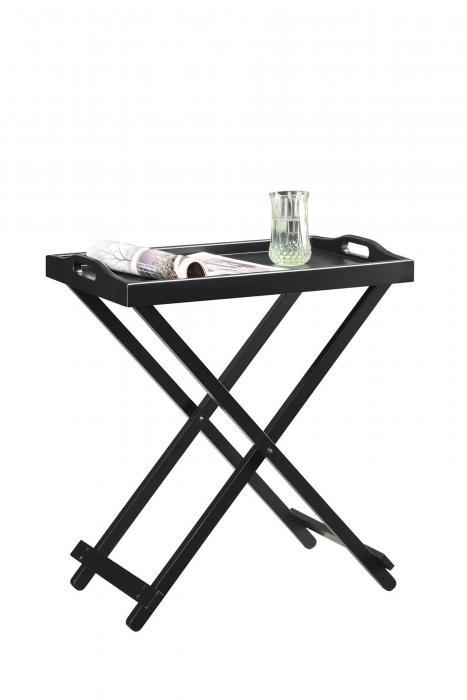 Designs2Go Folding Tray Table, Black