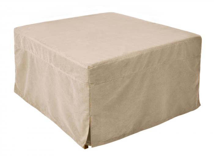 Nova Furniture Group Magical Ottoman Sleeper with Memory Foam Mattress Pads and Beige Microfiber Cover