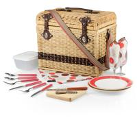 Picnic Time Yellowstone - Moka Willow Picnic Basket for 2