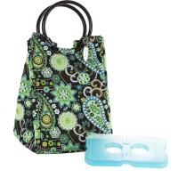 Fit & Fresh Lunch Bag In Green Paisley Print With Ice Pack