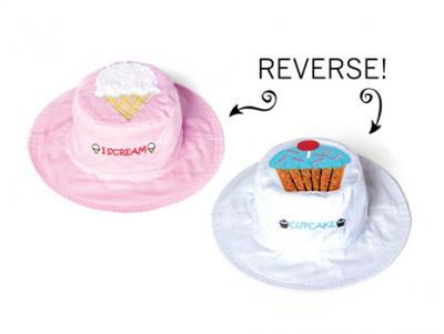 Luvali Convertibles I-Scream/Cupcake Reversible Kids' Hat Large