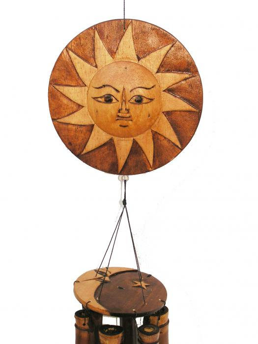 Cohasset Imports Natural Sun/Moon Wind Chime