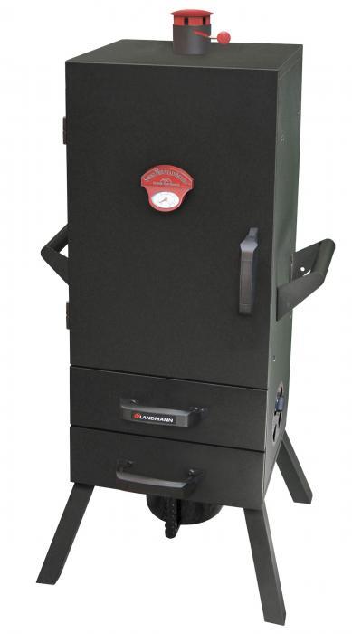 "Landmann 34"" Charcoal Easy Access 2 Drawer Vertical Smoker"
