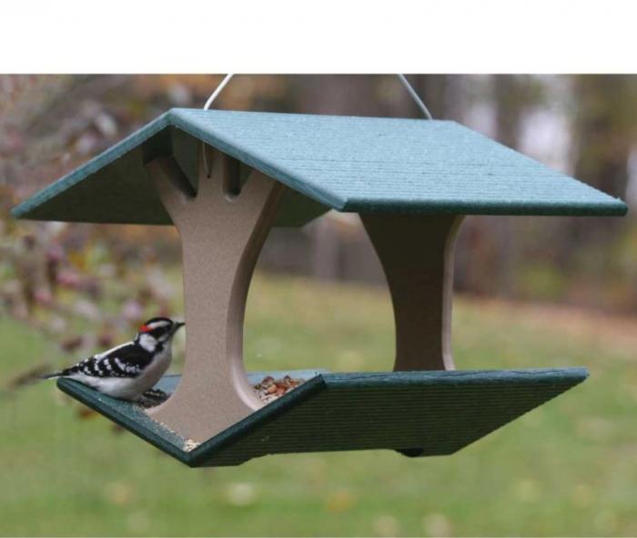 Birds Choice Recycled Hanging Fly-Thru Bird Feeder - Medium