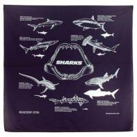 The Printed Image Nature Facts Sharks Bandana