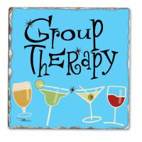 Counter Art Group Therapy Single Tumbled Tile Coaster
