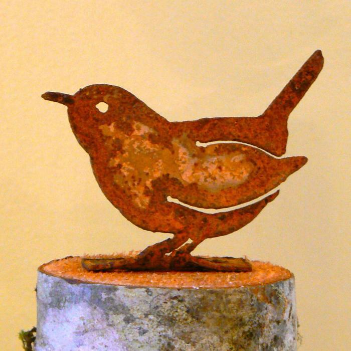 Elegant Garden Design Carolina Wren Bird Silhouette