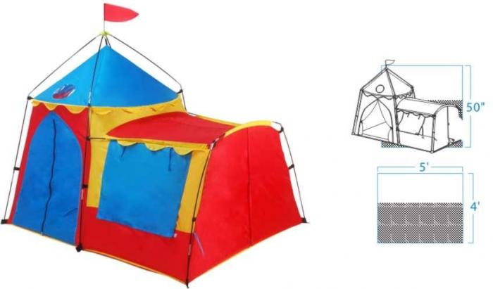 Knights Tower kids Play Tent
