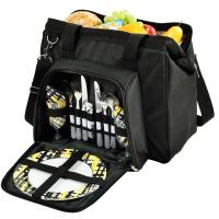 Picnic at Ascot - City Picnic Cooler/Basket - Insulated Cooler, Equipped for Two with Contemporary Shape - Wide Cooler Opening.
