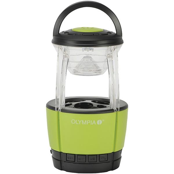Olympia Jamlight/Bluetooth Lantern, Green/Black Body, 72 lm