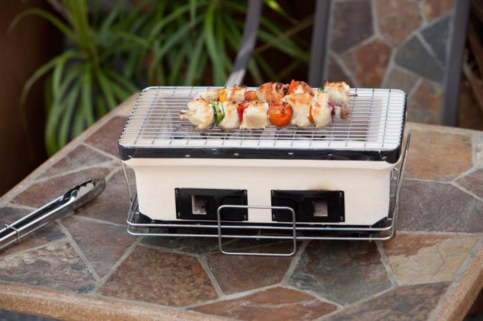 Fire Sense HotSpot Rectangle Yakatori Charcoal Table Top Grill