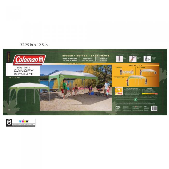 Coleman Instant Shelter - 16 x 8 Straight Leg  sc 1 st  C&ing Gear Outlet & Instant Shelter - 16 x 8 Straight Leg