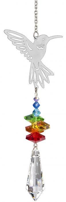 Woodstock Chimes Crystal Fantasy Hummingbird