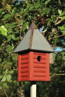 Heartwood Gatehouse Birdhouse, Redwood