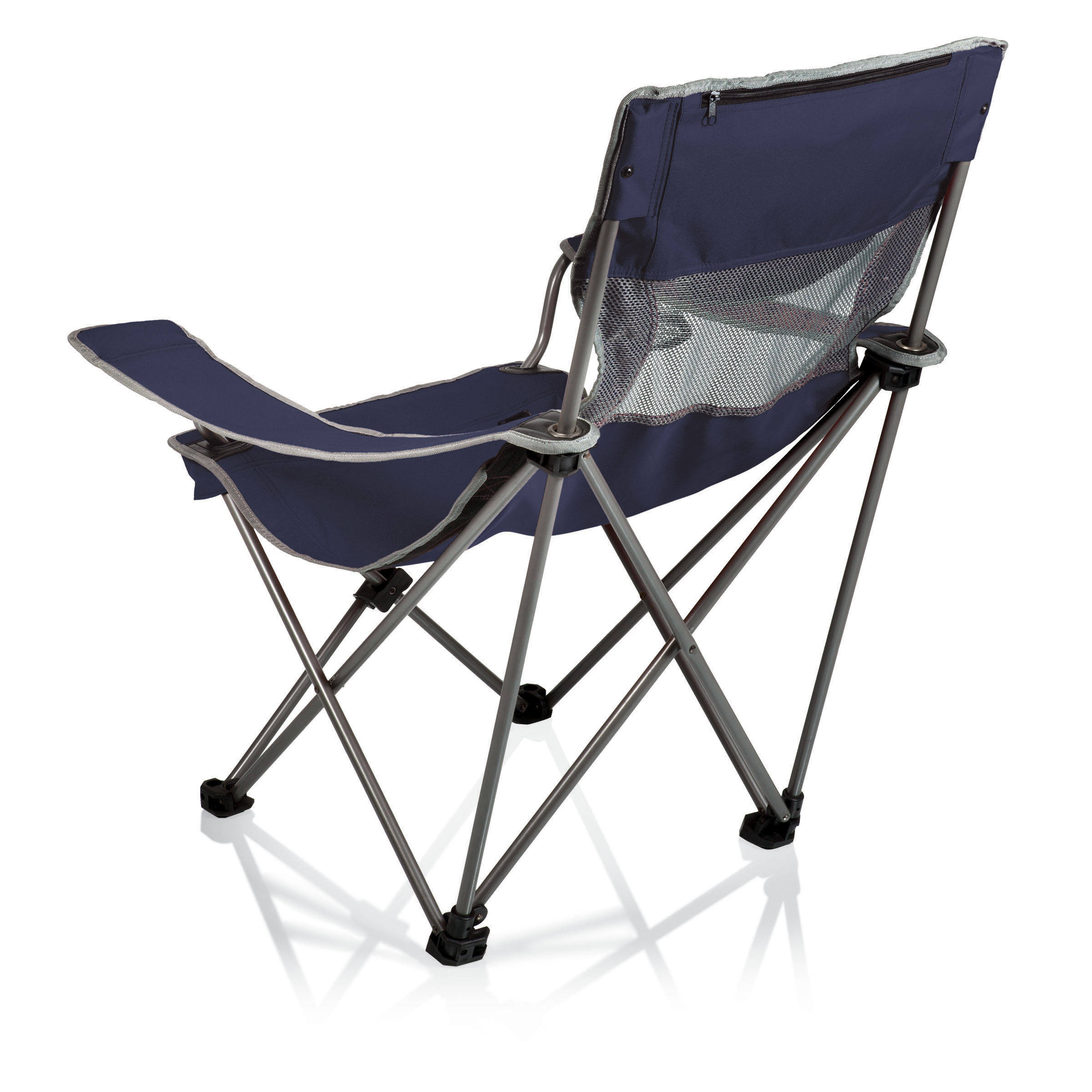 Picnic Time Campsite Folding Camp Chair Navy Grey