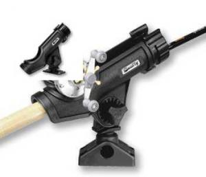 Scotty Products Powerlock Rod Holder Black with 241 Side/Deck Mount