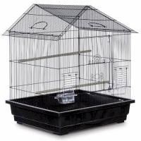 Offset Roof Parakeet Cage - Black