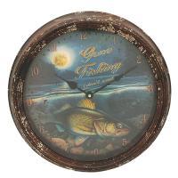 """Walleye Metal Clock 15"""""""