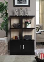 Convenience Concepts  Key West Console Bookcase with Cabinet (Weathered White / Black)