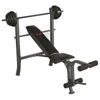 Sunny Health & Fitness SF-BH6510 100LB Weight/Bench Set