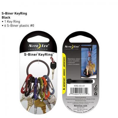 Nite-ize S-Biner Key Ring - Black