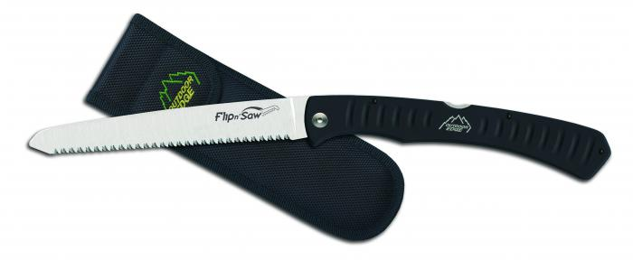 Outdoor Edge Flip n' Saw Folding Saw with Rubberized Aluminum Handle