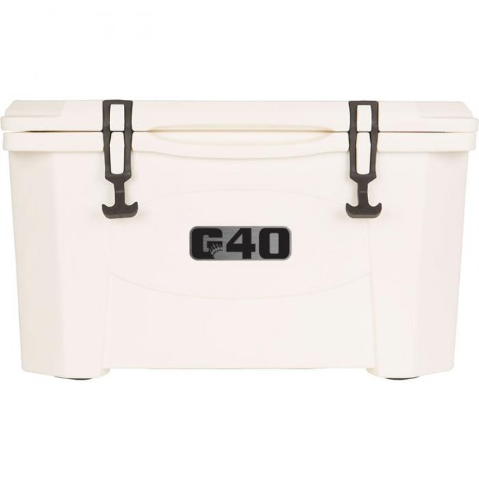 Grizzly 40 Quart RotoMolded Cooler, White