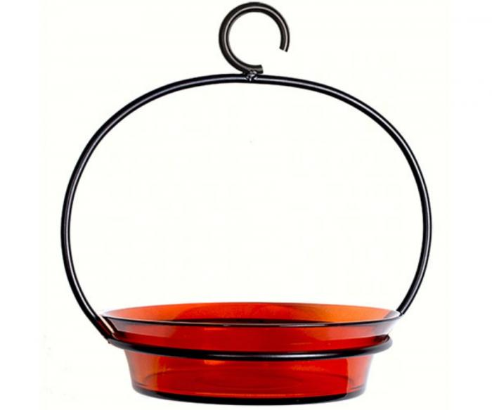 Couronne Company Orange Cuban Bowl Birdbath