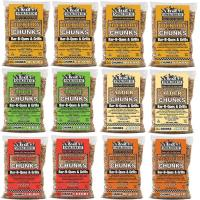 Smokehouse All Natural Flavored Wood Chunks 12 Pack Assorted