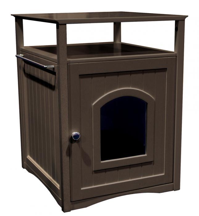 Merry Product Espresso Color Cat/Dog Washroom/House