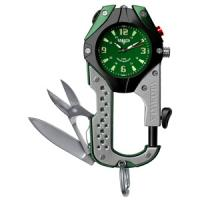 Dakota Green Dial, Black/Gray Body, Carabineer Clip Watch