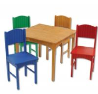 KidKraft Nantucket Table and 4 Primary Chair Set