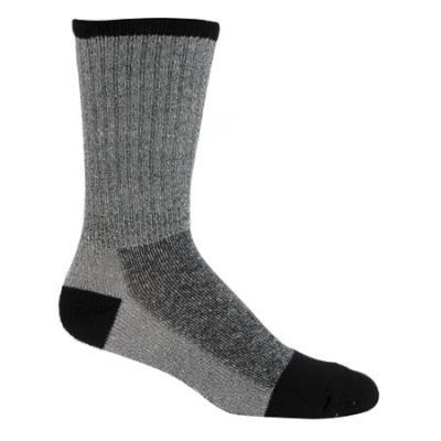 Elder Merino Wool Sock Lg Black/grey