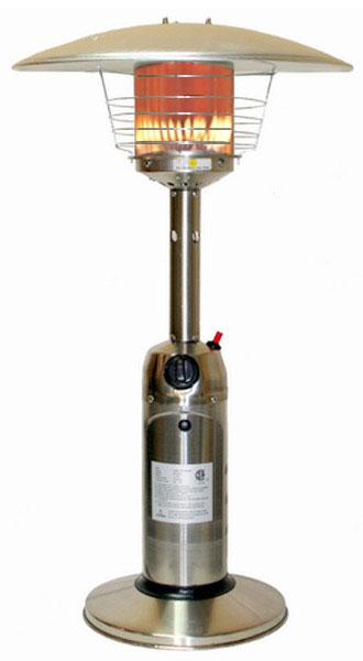 Fire Sense 10,000 BTU Stainless Steel Table Top Patio Heater
