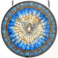 Glassmasters Holy Spirit Roundel Suncatcher