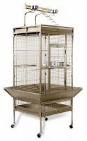 Medium Wrought Iron Select Bird Cage - Garnet Red