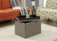 Designs2Go Accent Storage Ottoman (Grey)