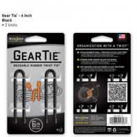 "Nite-ize Gear Tie 6"" 2 Pack - Black"