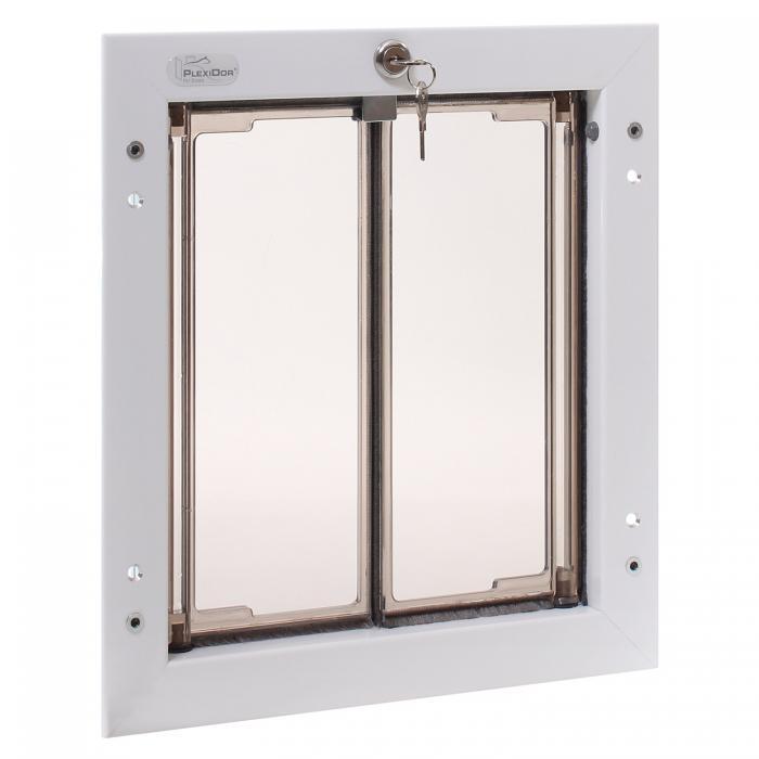 PlexiDor Medium Exterior Door Application Performance Pet Door, White