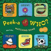 Chronicle Books Peek-a-Who Matching Game