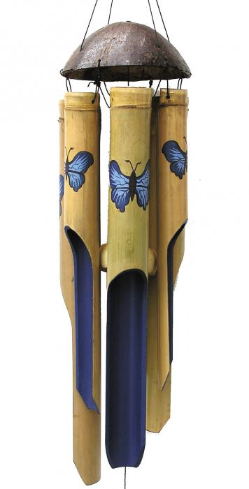 Cohasset Imports Blue Butterfly Medium Wind Chime