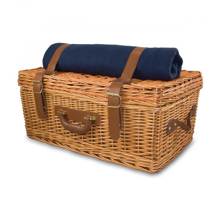 Picnic Time Windsor Willow Suitcase for Four