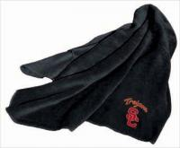 Southern California Trojans Black Fleece Throw