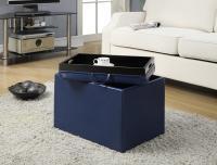 Designs2Go Accent Storage Ottoman (Blue)