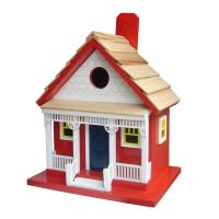 Home Bazaar Capitola Cottage Bird House - Red