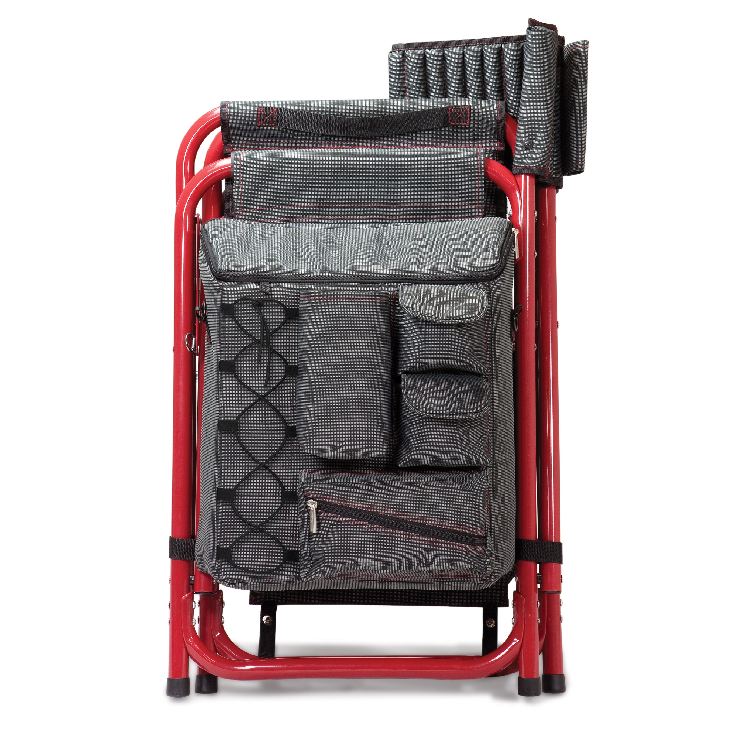 Picnic Time Fusion Chair Gray With Red