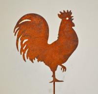 Elegant Garden Design Rooster Pick (set of 3)
