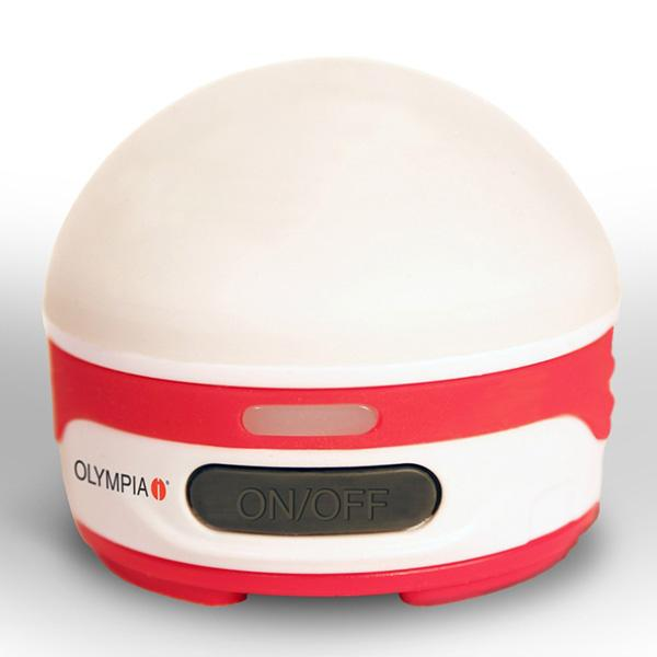 Olympia Rechargeable Lantern, White/Red Body, 200 lm