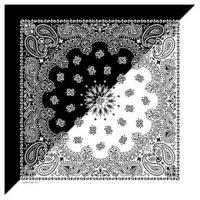Liberty Mountain Split Paisley Bandana, Black/White